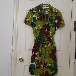 Trina turk safari shirt dress!